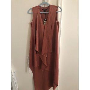 BCBGMAXAZARIA suede-like dress.